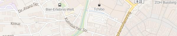 Karte Rotmain-Center Parkplatz Sendelbach Bayreuth