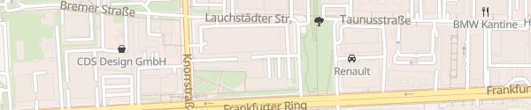 Karte Schnellladesäule BMW Niederlassung München München