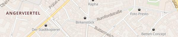 Karte Rumfordstraße München