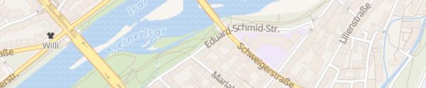 Karte Eduard-Schmid-Straße München