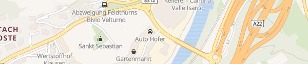 Karte Auto Hofer Klausen