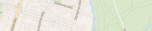 Karte Königinstraße II München