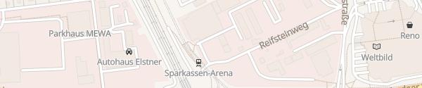 Karte Sparkassenarena Jena-Burgau