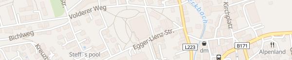 Karte Tiefgarage Sozialzentrum am Kirchfeld Wattens