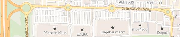 Karte EnBW Ladepark Edeka Simmel Unterhaching