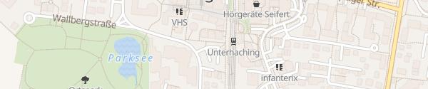 Karte S-Bahnhof Unterhaching