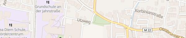 Karte Utzweg Unterhaching