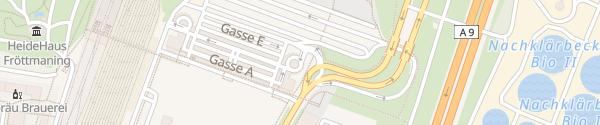 Karte P & R U-Bahn Fröttmaning München