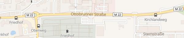 Karte Parkplatz Ottobrunner Straße Unterhaching