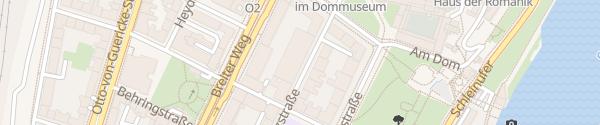 """Karte Parkhaus """"Am Dom"""" Magdeburg"""