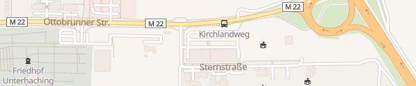 Karte ALDI Süd Kirchlandweg Unterhaching