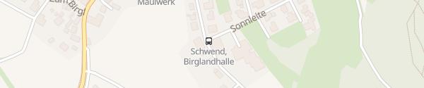 Karte Sporthalle Birgland