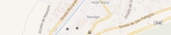 Karte Verkehrsbüro Moena