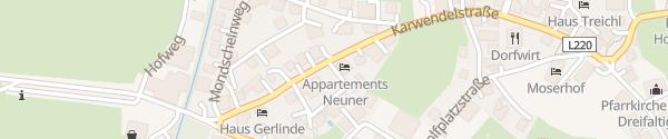 Karte Sonnenhof Genusshotel Pertisau