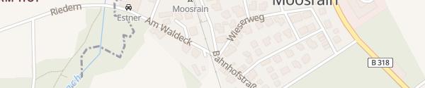 Karte Bahnhof Moosrain Gmund