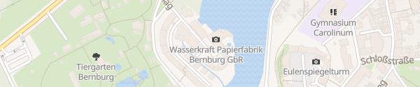 Karte Wasserkraft Papierfabrik Bernburg (Saale)