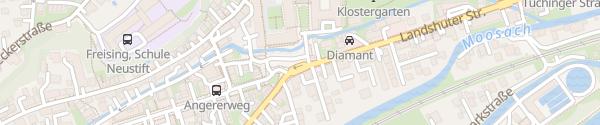 Karte Parkplatz Landshuter Straße Freising