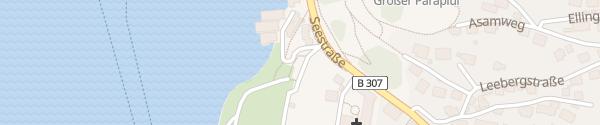 Karte Parkplatz Tegernsee