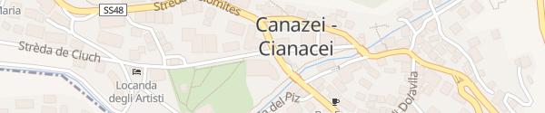 Karte Croce Bianca Leisure & Spa Hotel Canazei