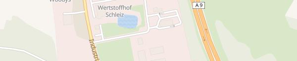 Karte Autohof Schleiz