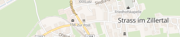 Karte Gasthof Hotel Post Strass im Zillertal