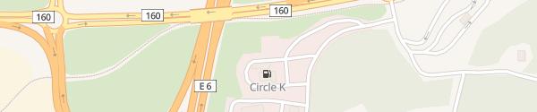 Karte IONITY Circle K Stora Höga