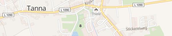 Karte Park&Charge Ladepunkt Tanna