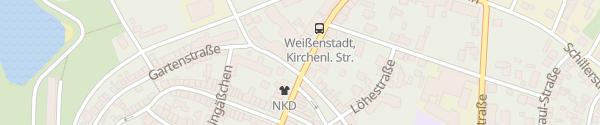 Karte Kirchenlamitzer Straße Weißenstadt