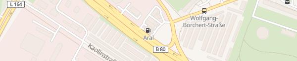 Karte Aral Eislebener Chaussee Halle (Saale)