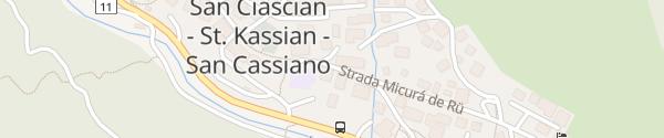 Karte Strada Micurà de Rü San Cassiano