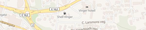 Karte Shell Vinger Kongsvinger