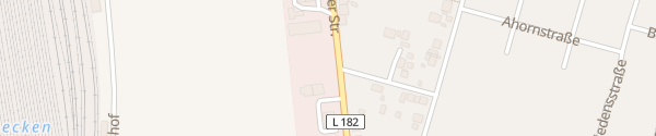 Karte Merseburger Straße Weißenfels OT Großkorbetha