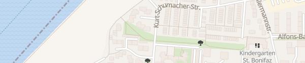 Karte Spielplatz Kurt-Schumacher-Straße Regensburg