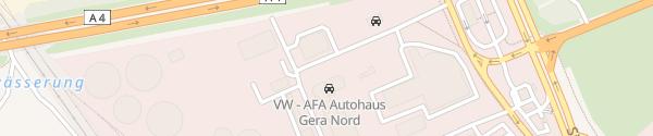 Karte AFA Autohaus Gera