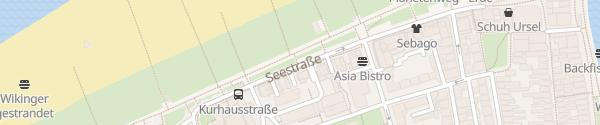 Karte Seestraße Rostock