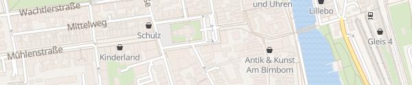 Karte Kirchenplatz Warnemünde Rostock