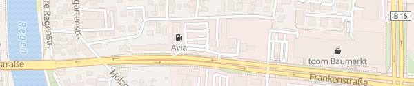 Karte Avia Frankenstraße Regensburg