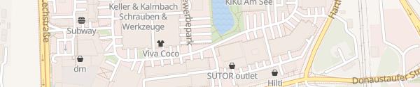Karte Großparkplatz Im Gewerbepark bei D90 Regensburg