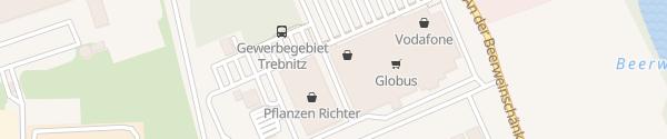 Karte Globus Gera-Trebnitz Gera