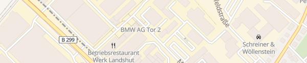 Karte BMW Werk Landshut Ergolding
