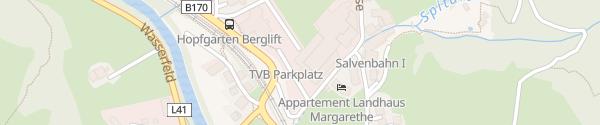 Karte Parkhaus Salvenbahn Hopfgarten