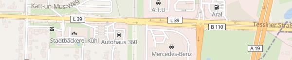 Karte Tessiner Straße Rostock