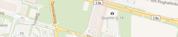 Karte Flughafen Leipzig/Halle Schkeuditz