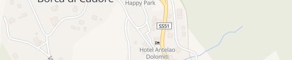 Karte Supercharger Antelao Dolomiti Mountain Resort Borca di Cadore