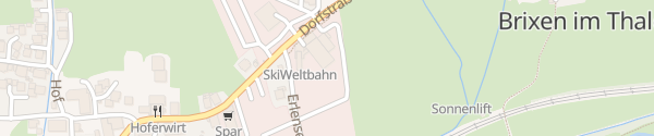 Karte Talstation Brixen im Thale