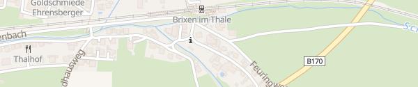 Karte Hubertus Logis Apartments Brixen im Thale