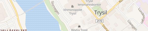 Karte Trysilsenteret Trysil