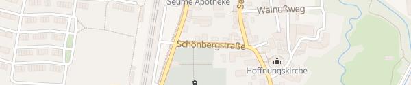 Karte Praxis Belmont Leipzig