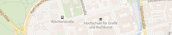 Karte Ladesäule HTWK Fakültät Elektrotechnik Leipzig