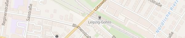 Karte S-Bahnhof Gohlis Leipzig
